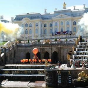 Открытие фонтанов в Петергофе 2016